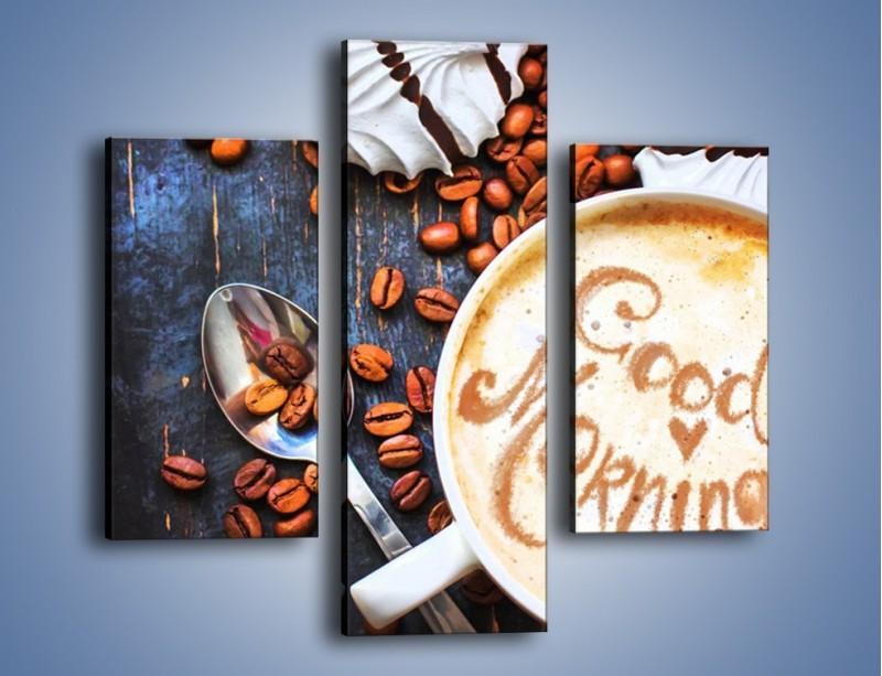Obraz na płótnie – Kawa na miły początek dnia – trzyczęściowy JN180W3