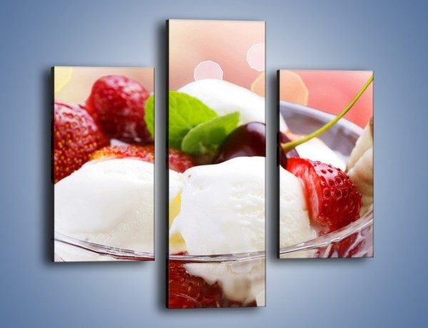 Obraz na płótnie – Lodowy deser w południe – trzyczęściowy JN187W3