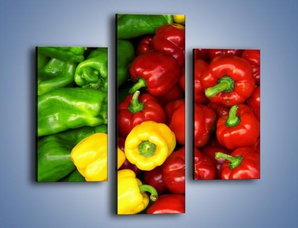Obraz na płótnie – Warzywne kolorowe kombinacje – trzyczęściowy JN192W3