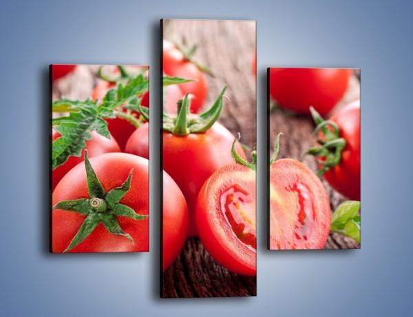 Obraz na płótnie – Pomidorowa uczta – trzyczęściowy JN201W3