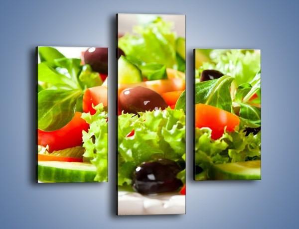Obraz na płótnie – Sałatkowy mix warzywny – trzyczęściowy JN204W3