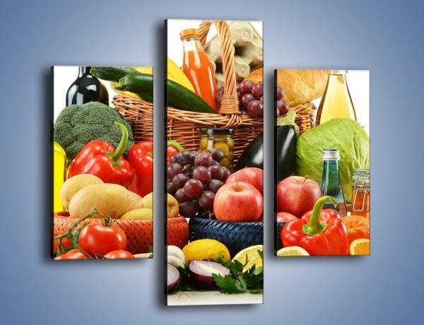 Obraz na płótnie – Kuchenne produkty na stole – trzyczęściowy JN205W3
