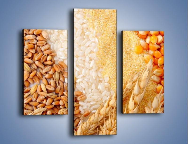 Obraz na płótnie – Ziarna pszenno-zbożowe – trzyczęściowy JN207W3