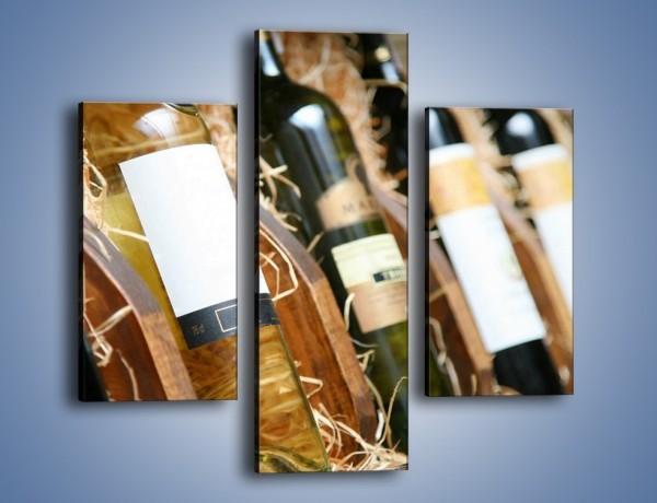 Obraz na płótnie – Kolekcja win – trzyczęściowy JN212W3