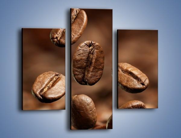 Obraz na płótnie – Kawowe uniesienie – trzyczęściowy JN214W3