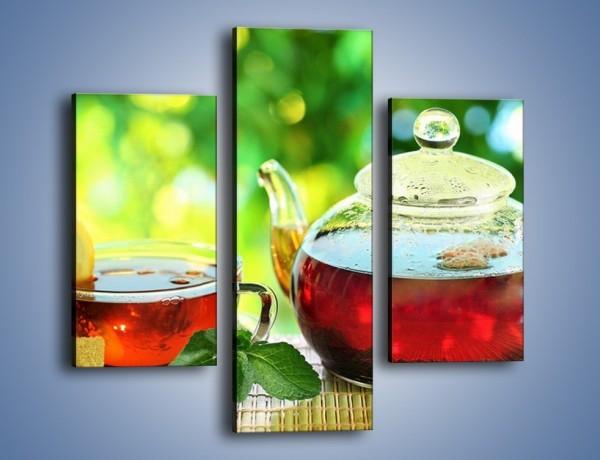 Obraz na płótnie – Ogrodowa herbatka – trzyczęściowy JN235W3
