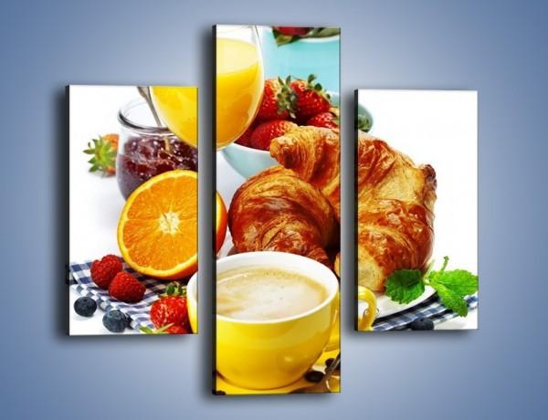 Obraz na płótnie – Zdrowe śniadanie dla zakochanych – trzyczęściowy JN240W3