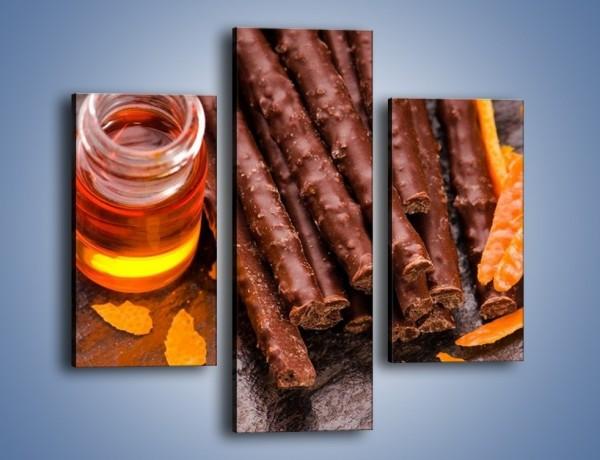 Obraz na płótnie – Stół pełen słodkości – trzyczęściowy JN244W3