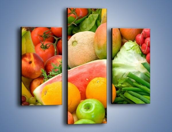 Obraz na płótnie – Mieszanka owocowo-warzywna – trzyczęściowy JN245W3