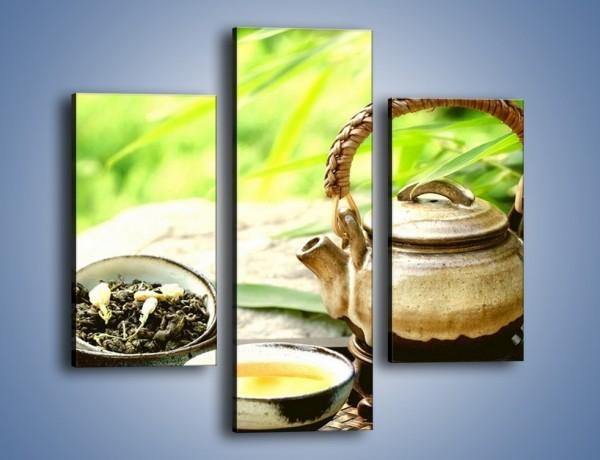 Obraz na płótnie – Herbata na świeżym powietrzu – trzyczęściowy JN249W3