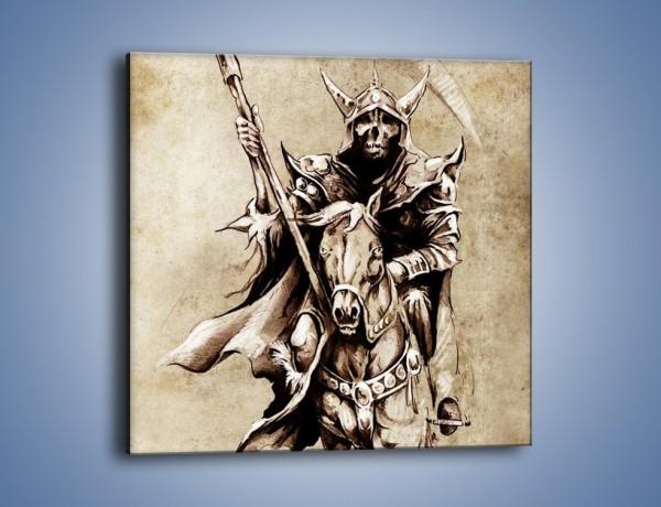 Obraz na płótnie – Śmierć na koniu – jednoczęściowy kwadratowy GR450