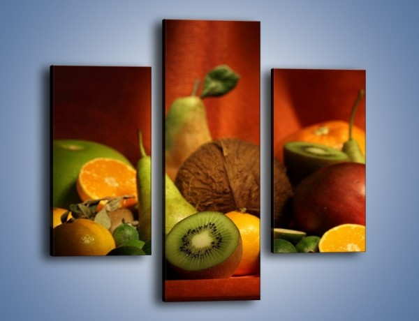 Obraz na płótnie – Owocowy stół – trzyczęściowy JN250W3