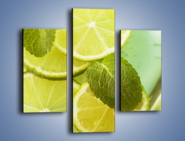 Obraz na płótnie – Lemoniada idealna na upały – trzyczęściowy JN252W3