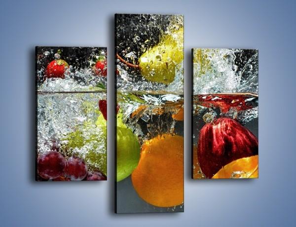 Obraz na płótnie – Głębokie owocowe zanurzenie – trzyczęściowy JN253W3