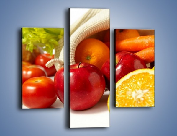 Obraz na płótnie – Zakupy pełne zdrowia – trzyczęściowy JN258W3