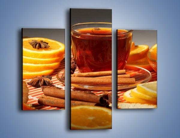 Obraz na płótnie – Imbirowo-pomarańczowe rozluźnienie – trzyczęściowy JN260W3