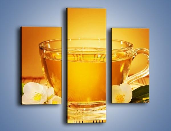 Obraz na płótnie – Delikatny smak herbaty – trzyczęściowy JN261W3