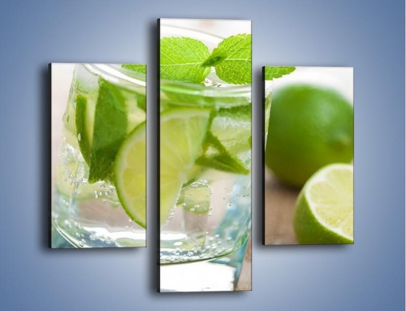 Obraz na płótnie – Limonkowy napój – trzyczęściowy JN262W3