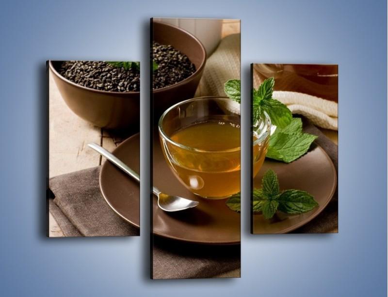 Obraz na płótnie – Filiżanka herbaty na poprawę humoru – trzyczęściowy JN264W3