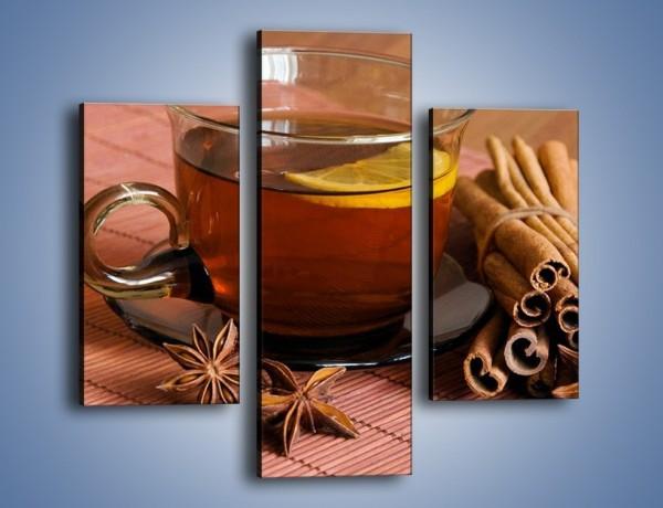 Obraz na płótnie – Rozgrzewająca filiżanka herbaty – trzyczęściowy JN266W3