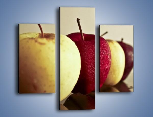 Obraz na płótnie – Jabłuszkowe smaki dzieciństwa – trzyczęściowy JN267W3