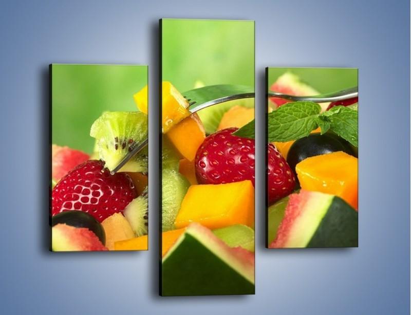 Obraz na płótnie – Arbuzowa misa z owocami – trzyczęściowy JN274W3