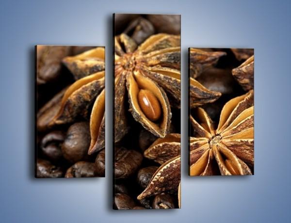 Obraz na płótnie – Goździkowe kwiaty z kawą – trzyczęściowy JN275W3