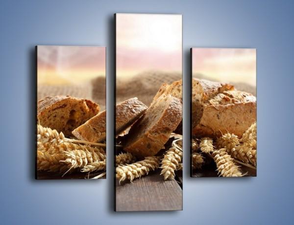 Obraz na płótnie – Świeży pszenny chleb – trzyczęściowy JN287W3