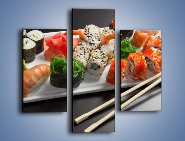 Obraz na płótnie – Kuchnia azjatycka na półmisku – trzyczęściowy JN295W3