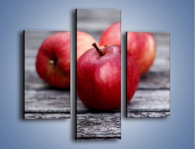 Obraz na płótnie – Jabłkowe zdrowie – trzyczęściowy JN296W3