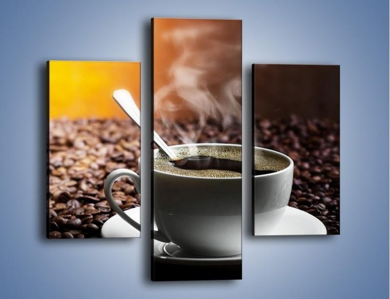 Obraz na płótnie – Aromatyczna filiżanka kawy – trzyczęściowy JN298W3