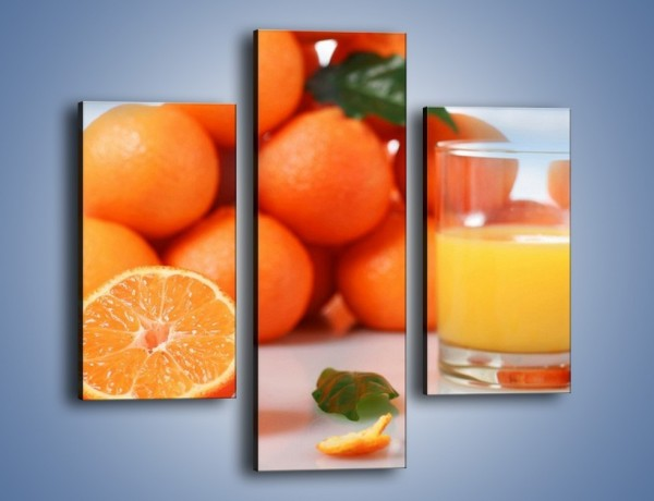 Obraz na płótnie – Szklanka soku pomarańczowego – trzyczęściowy JN301W3