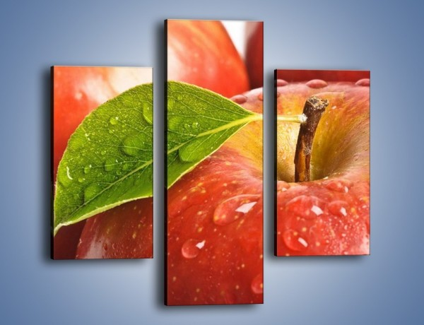 Obraz na płótnie – Jabłka prosto z drzewa – trzyczęściowy JN302W3