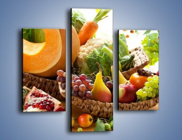 Obraz na płótnie – Owocowy stół w kolorach tęczy – trzyczęściowy JN305W3