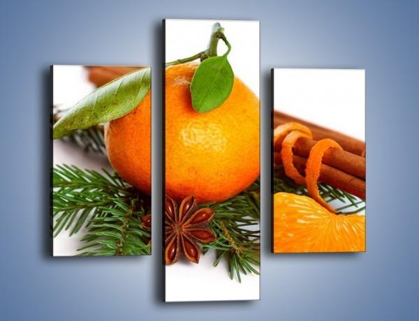 Obraz na płótnie – Pomarańcza na święta – trzyczęściowy JN306W3