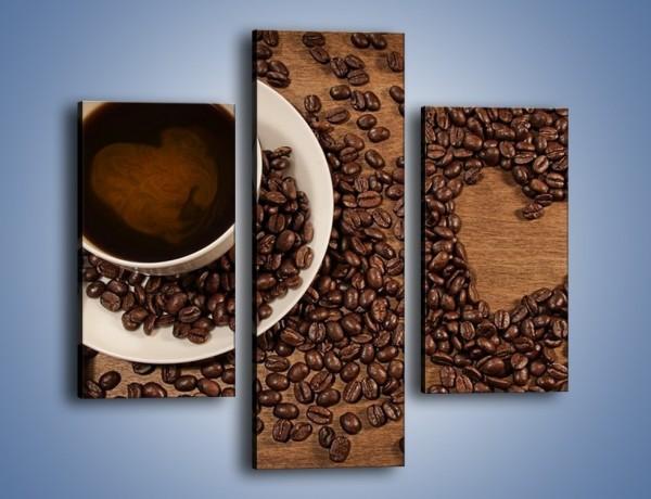 Obraz na płótnie – Miłość do kawy – trzyczęściowy JN312W3