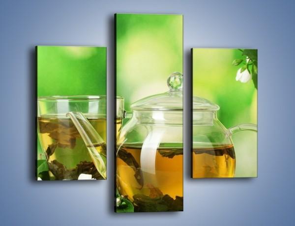 Obraz na płótnie – Herbaciane ukojenie – trzyczęściowy JN316W3