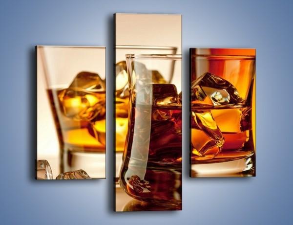 Obraz na płótnie – Męskie rozmowy przy whisky – trzyczęściowy JN318W3
