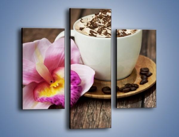 Obraz na płótnie – Kawa z bitą śmietaną – trzyczęściowy JN321W3