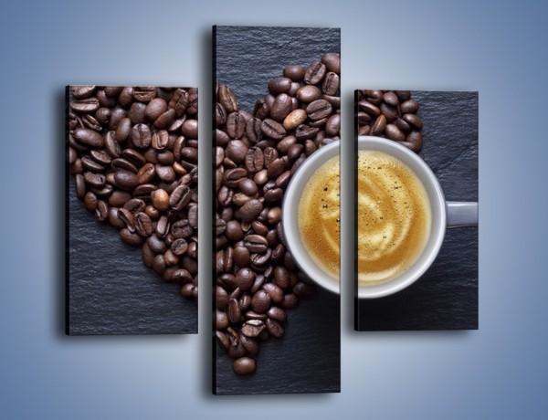 Obraz na płótnie – Miłość do czarnej kawy – trzyczęściowy JN328W3