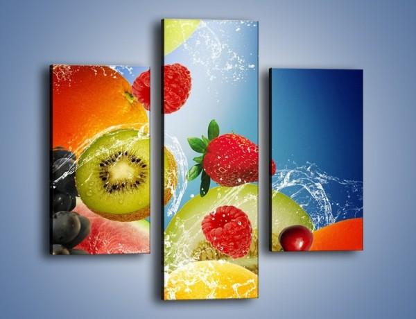 Obraz na płótnie – Owoce o poranku – trzyczęściowy JN331W3