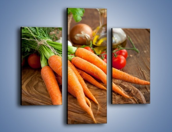 Obraz na płótnie – Młode warzywa – trzyczęściowy JN335W3