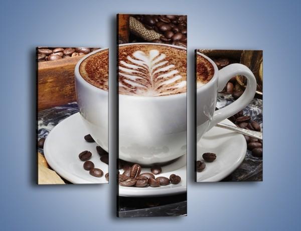 Obraz na płótnie – Taca z kawą – trzyczęściowy JN338W3