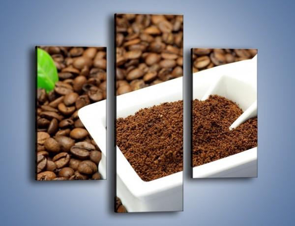 Obraz na płótnie – Zmielona kawa – trzyczęściowy JN340W3