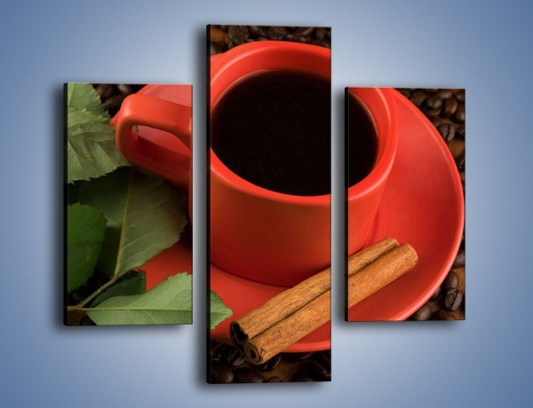 Obraz na płótnie – Kawa z białą różą – trzyczęściowy JN342W3