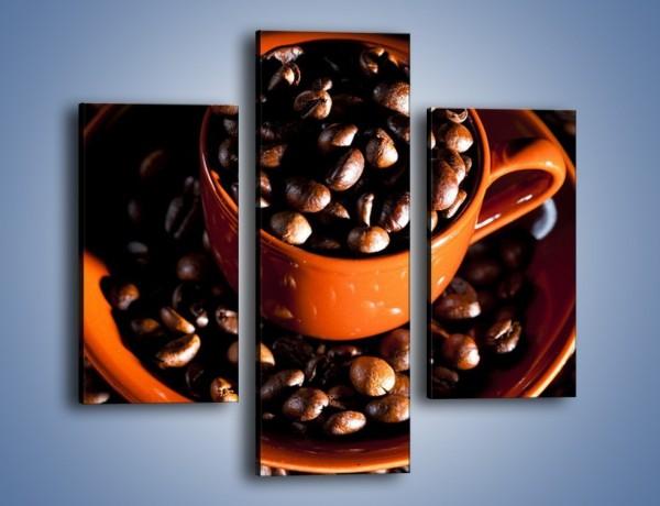 Obraz na płótnie – Filiżanka kawy z charakterem – trzyczęściowy JN343W3
