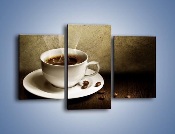 Obraz na płótnie – Kawa ze szczyptą szarości – trzyczęściowy JN345W3