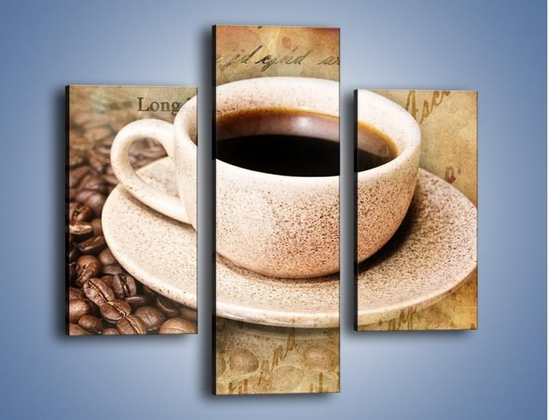 Obraz na płótnie – List przy filiżance kawy – trzyczęściowy JN347W3