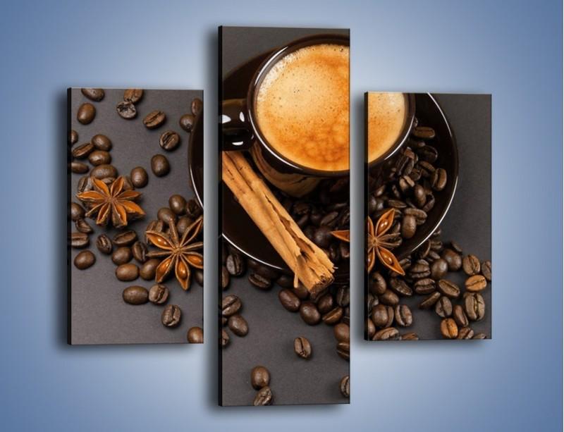Obraz na płótnie – Kawa z goździkiem – trzyczęściowy JN349W3