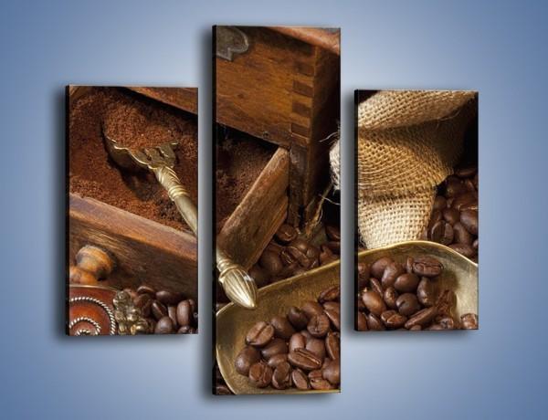 Obraz na płótnie – Szuflada pełna kawy – trzyczęściowy JN356W3